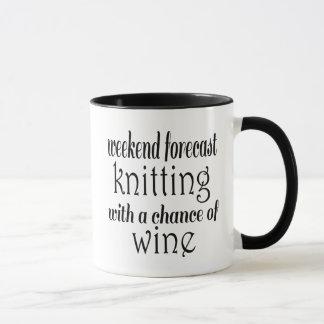 Stricken und Wein Tasse