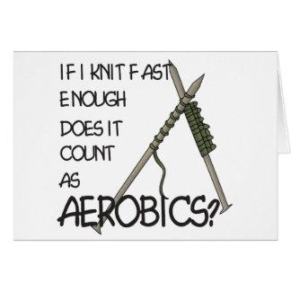 Strickender Aerobics Karte