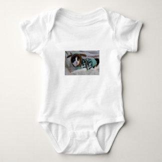 Strickjacke-Kaliko-Katze Baby Strampler