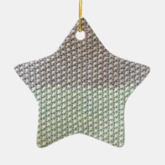 Stricktextur mint grau by SIRAdesign Vienna 2015 Keramik Stern-Ornament