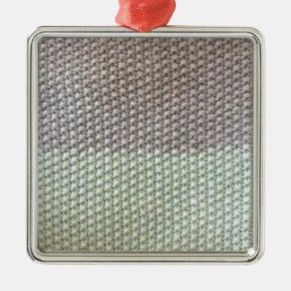 Stricktextur mint grau by SIRAdesign Vienna 2015 Silbernes Ornament