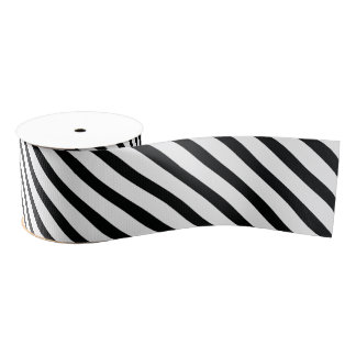 Striped (Schwarze u. des Weiß-| Diagonale) jede Ripsband