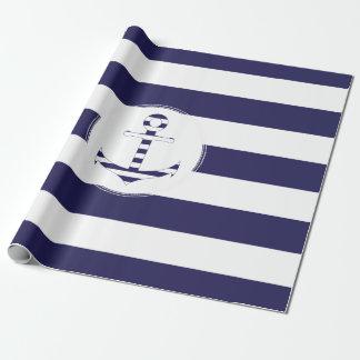 Stripy Seeanker Geschenkpapier