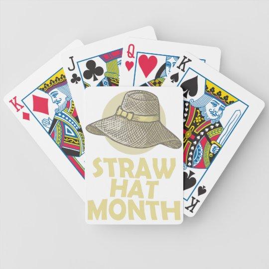 Strohhut-Monat Bicycle Spielkarten