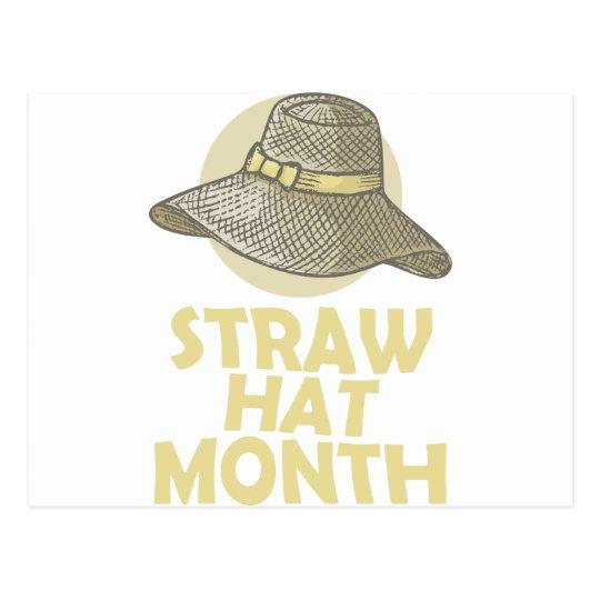 Strohhut-Monat Postkarte