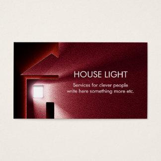 Strom-Energie-Visitenkarte des Hauses helle Visitenkarte
