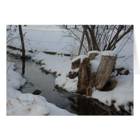 Strom im Winter Karte