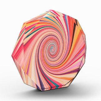 Strudel-abstrakter Hintergrund 3 Acryl Auszeichnung