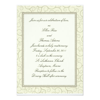 Strudel-Hochzeits-Einladung 14 X 19,5 Cm Einladungskarte