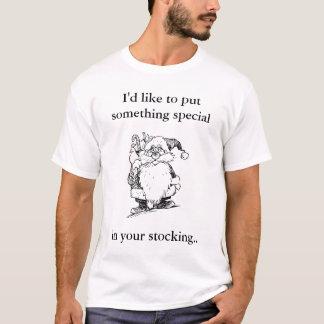 Strumpf-Anfüllen von Sankt-Shirt T-Shirt