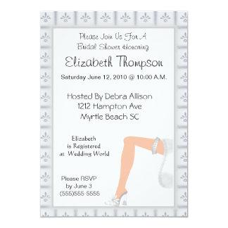 Strumpfband-Brautparty-Einladung 12,7 X 17,8 Cm Einladungskarte