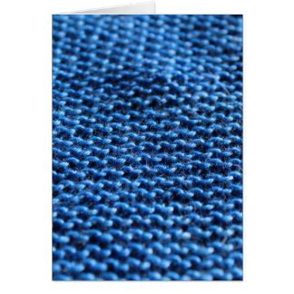 Strumpfband-Stich im Blau Karte