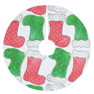 Strümpfe Polyester Weihnachtsbaumdecke