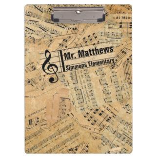 Stücke Vintage Musik IDE389 Klemmbrett