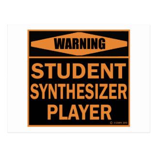 Studenten-synthesizer-Spieler Postkarte
