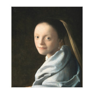Studie Johannes Vermeer einer jungen Frau Leinwanddruck