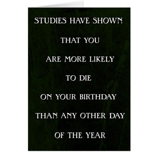 Studien haben Sie gezeigt, zu die Geburtstag Karte