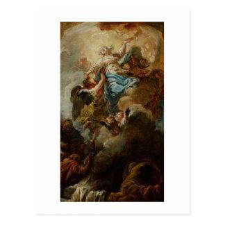 Studieren Sie für die Annahme der Jungfrau, c.1760 Postkarte