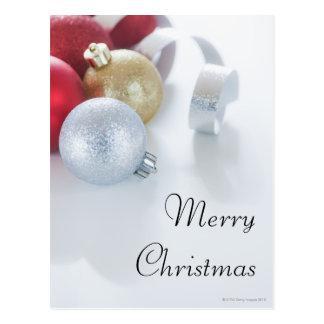 Studio geschossen von den Weihnachtsverzierungen Postkarte