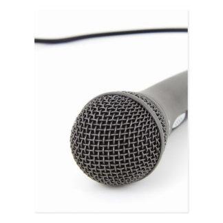 Studio-Mikrofon Postkarte
