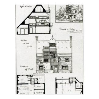 Studio und Hütte für Fräulein Rosa Corder Postkarte