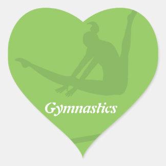 Stufenbarren Gymnastik-Aufkleber- Herz-Aufkleber