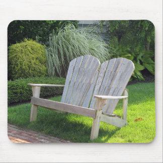 Stuhl in der Ozean-Waldung NJ/in Jersey-Ufer Mousepads