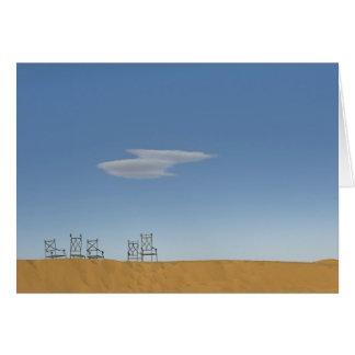 Stühle auf dem Sahara Karte