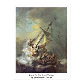 Sturm auf dem Meer von Galiläa durch Rembrandt Van Postkarte