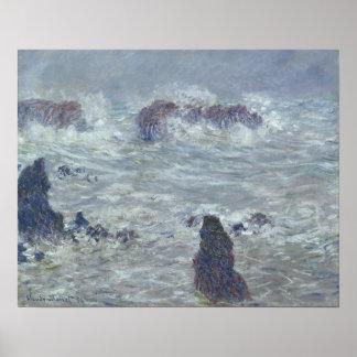 Sturm Claude Monets |, vor der Küste des Belle-Ile Poster