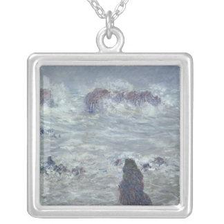 Sturm Claude Monets |, vor der Küste des Belle-Ile Versilberte Kette