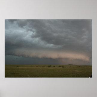 Sturm-näherndes Bauernhof-Plakat Poster