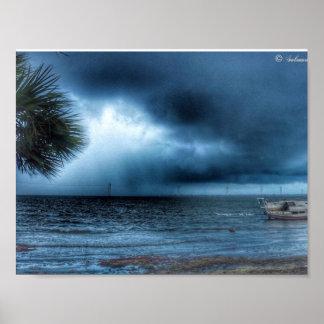 Sturm über dem Fluss-Plakat Poster