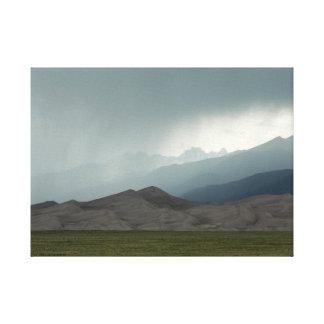 Sturm über den großen Sanddünen, Colorado Leinwanddruck