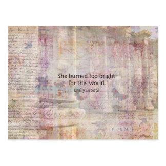 Sturmhöhe-Zitat durch Emily Bronte Postkarte