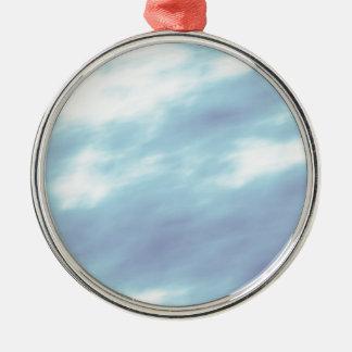 Stürmische Himmel Rundes Silberfarbenes Ornament