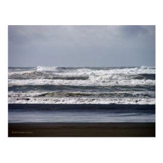 Stürmische Seepostkarte Postkarte