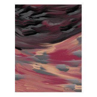Stürmischer Himmel Postkarte