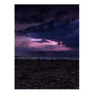 Stürmischer Sonnenuntergang Postkarte
