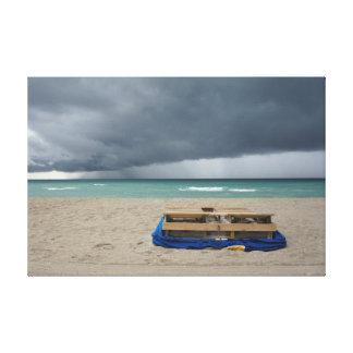 Stürmischer Strand Gespannter Galerie Druck