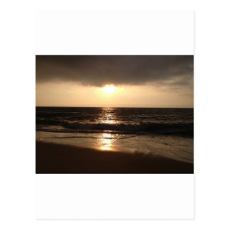 Stürmischer Strand Postkarte