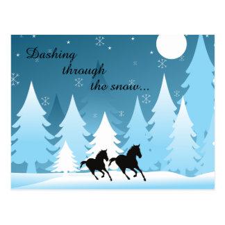 Stürzen durch das Schnee ~ Postkarte