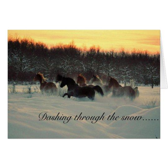 Stürzen durch den Schnee Grußkarte