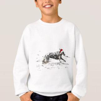 Stürzen durch den Schnee Sweatshirt