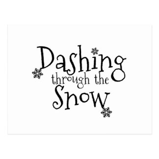 Stürzen durch die Postkarte des Schnee-|