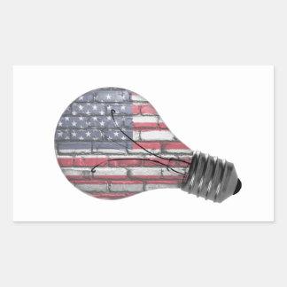 Stützamerikanischer Innovations-Aufkleber Rechteckiger Aufkleber