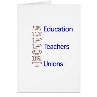 StützBildung, -lehrer und -Gewerkschaften Grußkarte