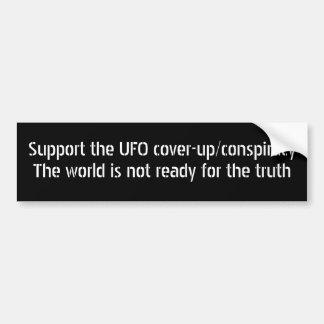 Stützen Sie die UFO-Vertuschung/-verschwörung Autoaufkleber
