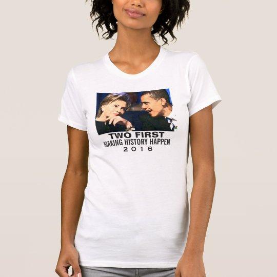"""Stützen Sie Hillary-T - Shirt Obama/Hillary """"zwei"""