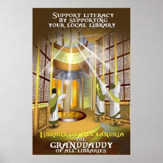 Stützen Sie Ihr lokales Bibliotheks-Plakat Poster